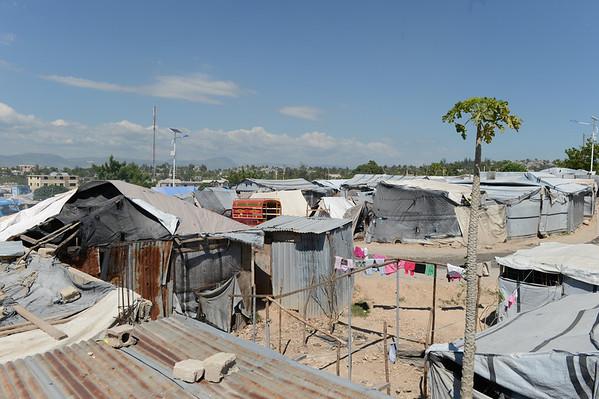 2012-08 Tim in Haiti - Night in Tent City