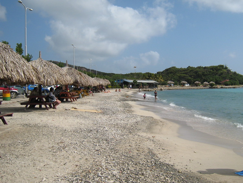 The beach in Willemstad, Curacao where we went snorkeling