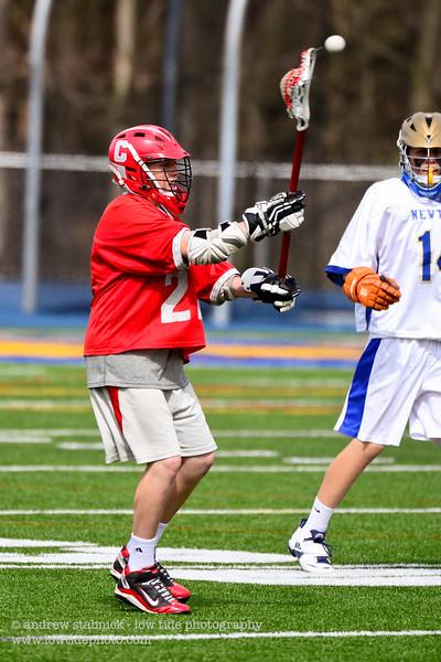 2012 - Junior Varsity (boys) v. Newtown - April 14, 2012