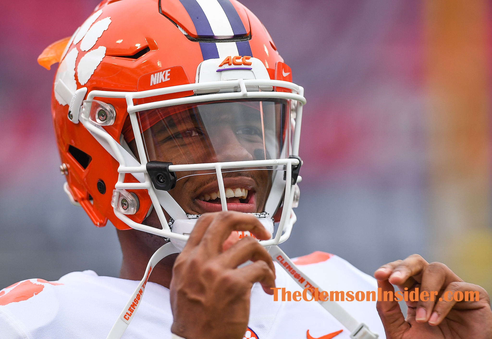 Clemson quarterback Kelly Bryant (2) during pre-game Saturday, November 4, 2017 at N.C. State's Carter Finley Stadium in Raleigh, N.C.