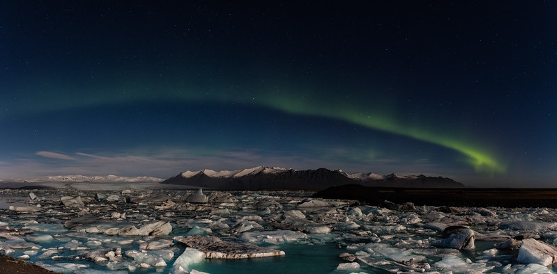 Aurora Borealis, Jokulsarulon Lagoon