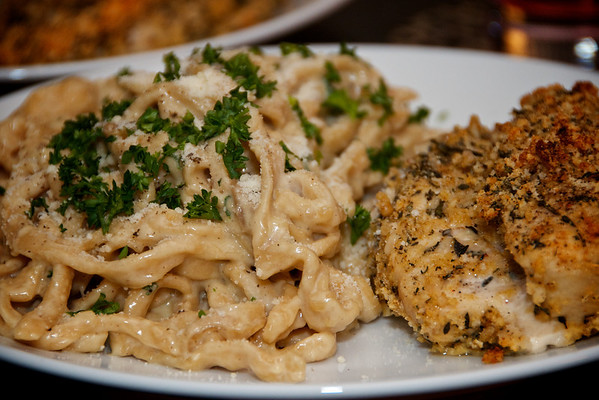 Alfredo & Parmesan Chicken