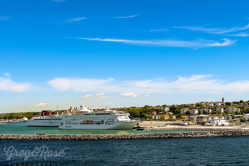 Ships at berth in Visby , Gotland