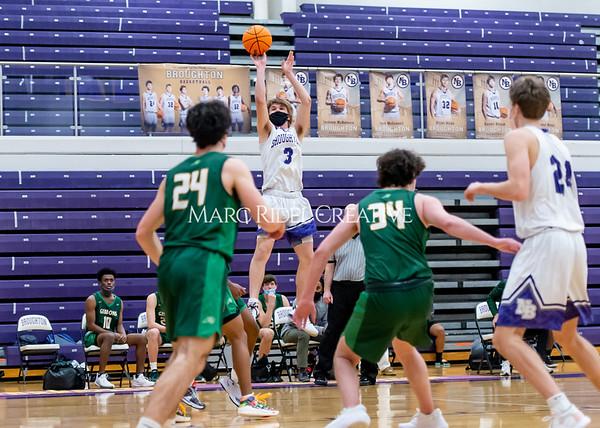 Broughton boys varsity basketball vs Cardinal Gibbons. February 16, 2021