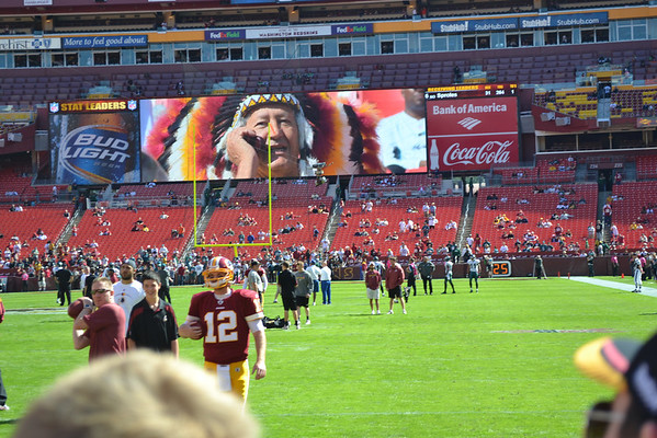 On The Sideline With The Redskins