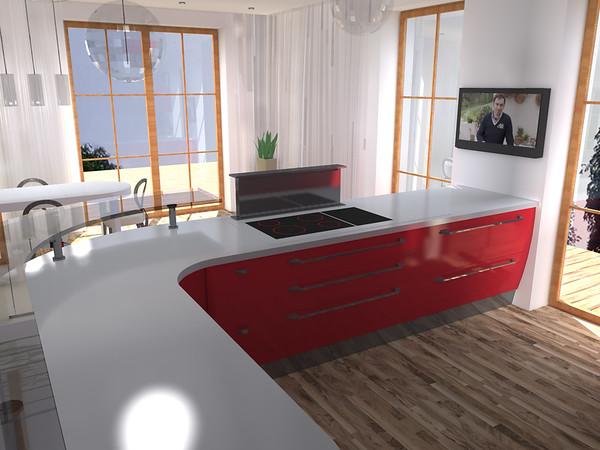 Kuchyň s vysokým stropem
