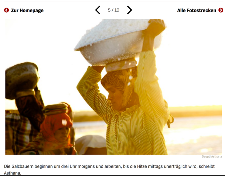 Der Spiegel - Saltpan workers of India