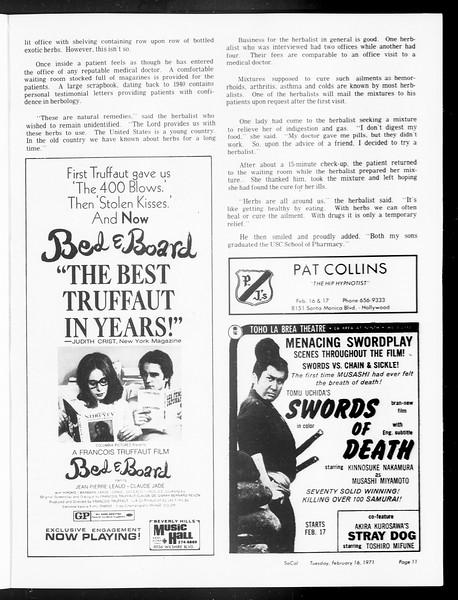 SoCal, Vol. 62, No. 69, February 16, 1971