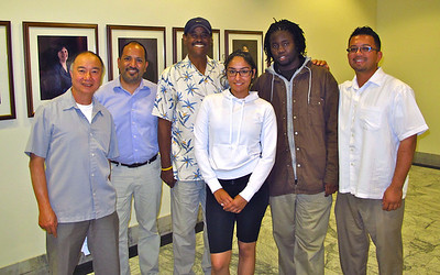 Meeting with Oakland city council member Larry Reid