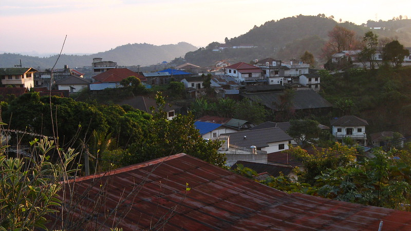 The view out the window in Scott's room at Sa-ngiam's house in the morning (I slept in a tent in the house).