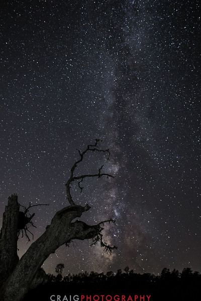 Milky Way over Lake Berryessa California #3