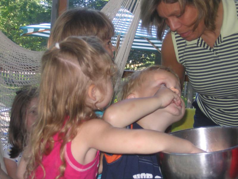 Aunt Deb has something good in that bowl!
