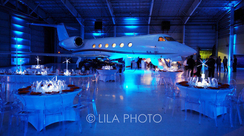 Reception and Dinner at Alerion Airplane Hangar
