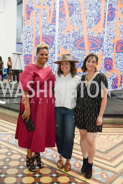 Rachel Schmidt, Amanda Jiron-Murphy, Jessica Stafford-Davis, By The People, Arts Festival, Smithsonian Arts and Industries Building, June 14th, 2019.  Photo by Ben Droz.