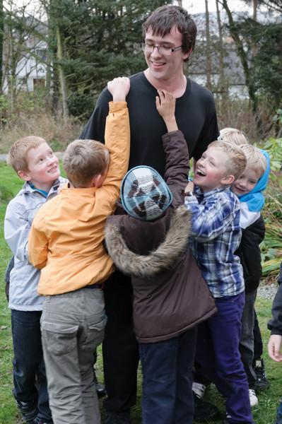 Ludwig war der Schatz und die Kinder mussten ihn am Schluss fangen.