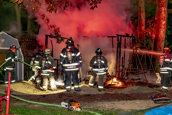 Shed Fire - Crescent Drive - Rombout Fire District - 9/17/2020