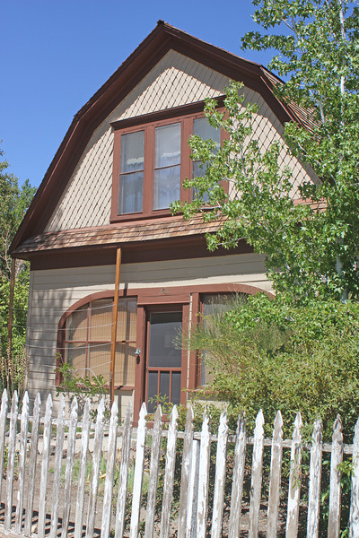 8/15/11 Mary Austin's Home on the corner of Webster & Main Streets. Independence, Eastern Sierras, Inyo County, CA