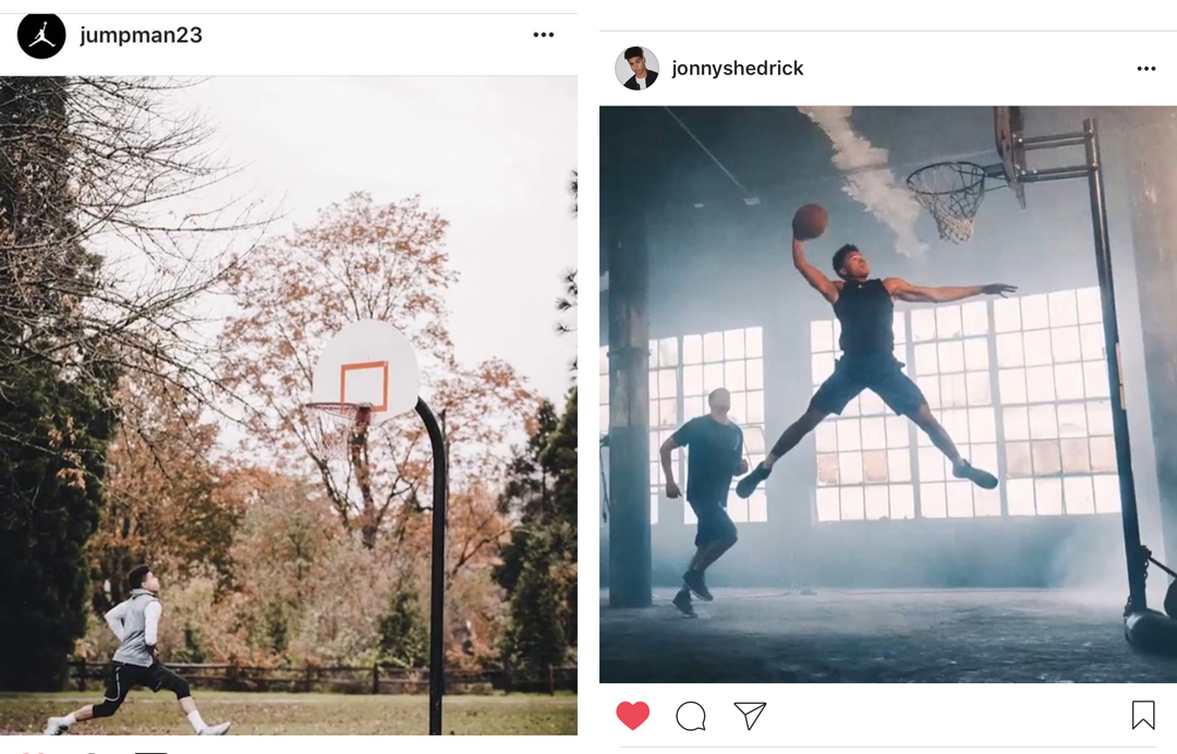 two jumpman photos from instagram