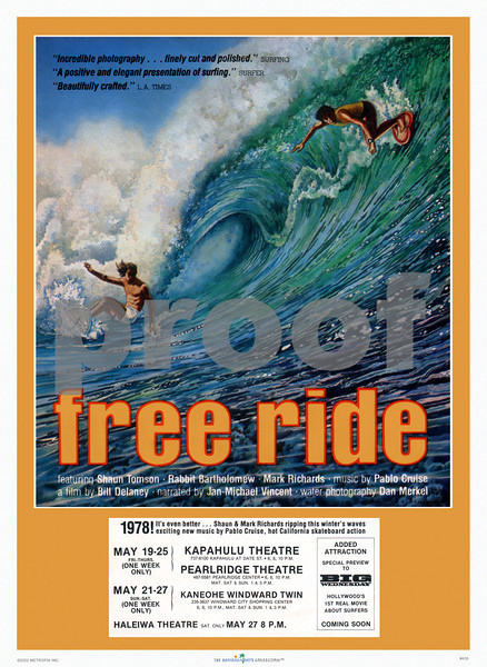 435: 'Free Ride' Movie posting from 1978. (PROOF watermark will not appear on your print)
