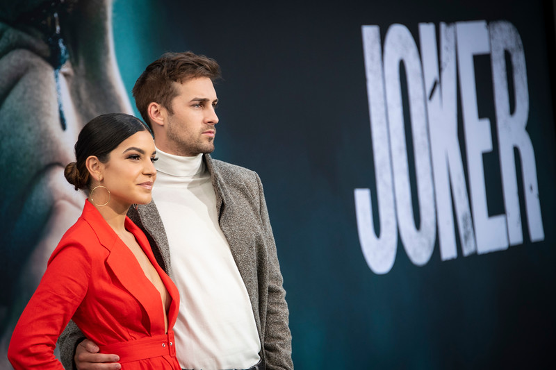 """HOLLYWOOD, CALIFORNIA - SEPTEMBER 28: Alexys Gabrielle and Cody Johns attend the premiere of Warner Bros Pictures """"Joker"""" on Saturday, September 28, 2019 in Hollywood, California. (Photo by Tom Sorensen/Moovieboy Pictures)"""