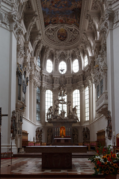 It seems that each cathedral we visit is more beautiful than the last as with St. Stephan's in Passau.