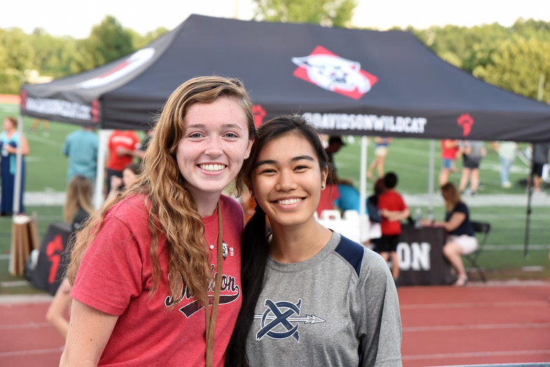 Future Davidson roommates met for the first time at Fan Fest.