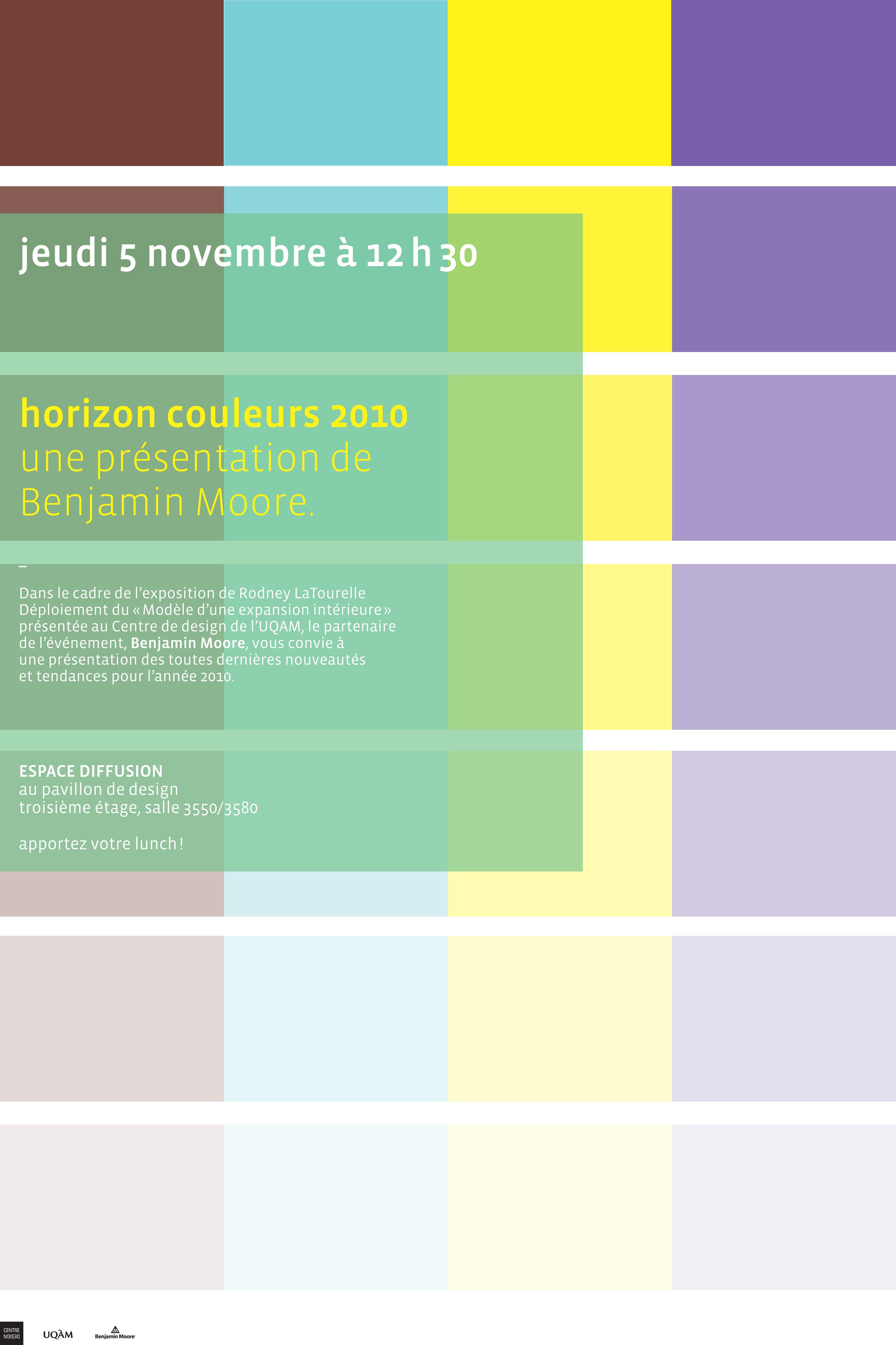 2010 - Exposition - Horizon couleurs 2010 une présentation de Benjamin Moore