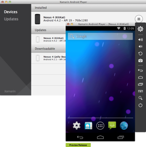 Xamarin Android Player on OS X