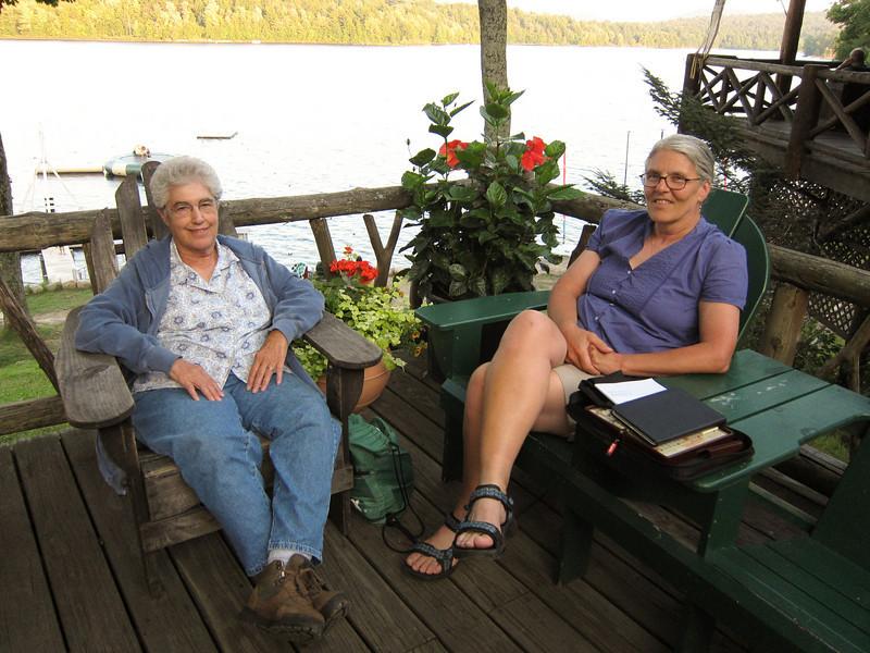 Dottie and her visiting artist-friend, Sandra Hildreth.