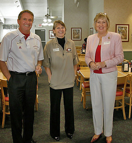 January 30, 2011 at the Sun City Country Club and Golf Course.  CSC's Brad Smith, Connie Rasmussen and president Janie Park pause for as photo.  Karen Pope was also in attendance -- just not in this photo.