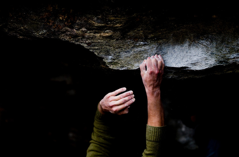 Bouldering at Moore's Wall, North Carolina