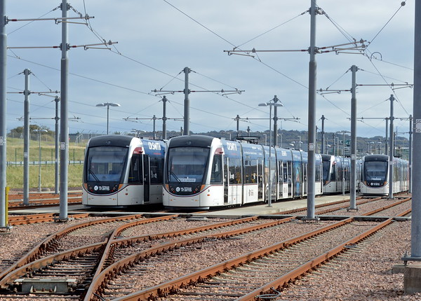 Edinburgh tram depot at Gogar