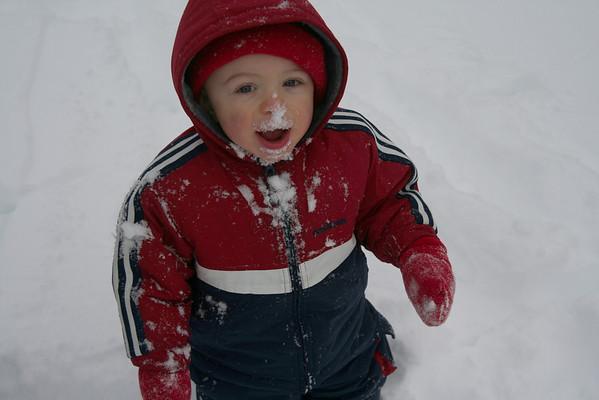 Ian First Snow 3-2-09