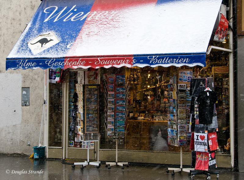 Vienna shop in the snow