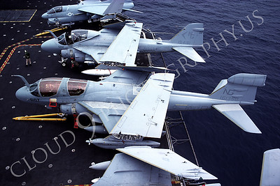 US Navy Grumman EA-6B Prowler Airplane Aircraft Carrier Scene Pictures