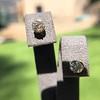 .91ctw Old European Cut Diamond Clover Earrings 7