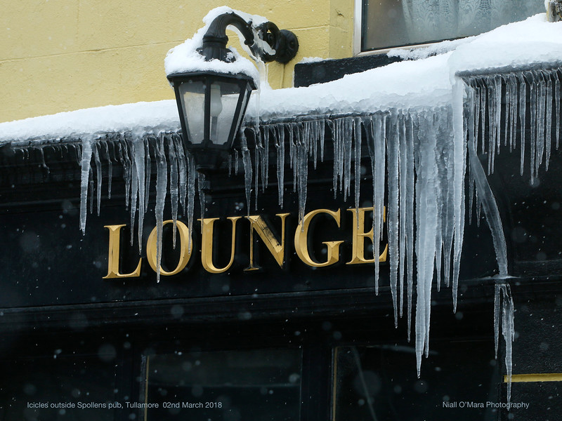 Icicles - Spollens bar, Tullamore