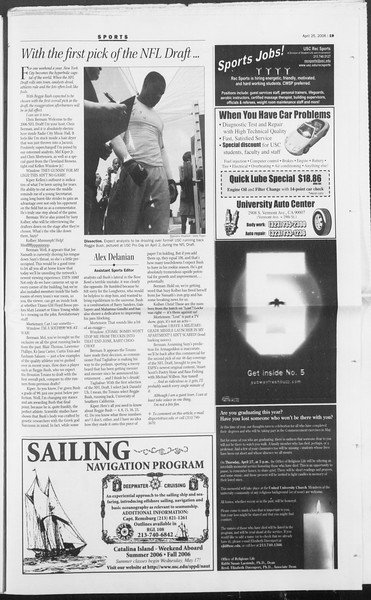 Daily Trojan, Vol. 157, No. 65, April 25, 2006