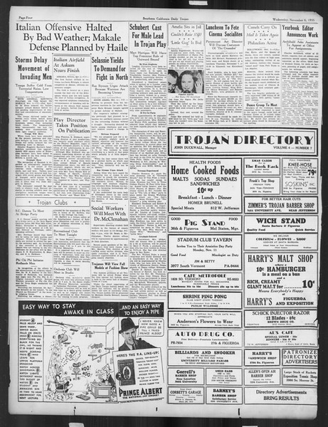Daily Trojan, Vol. 27, No. 33, November 06, 1935