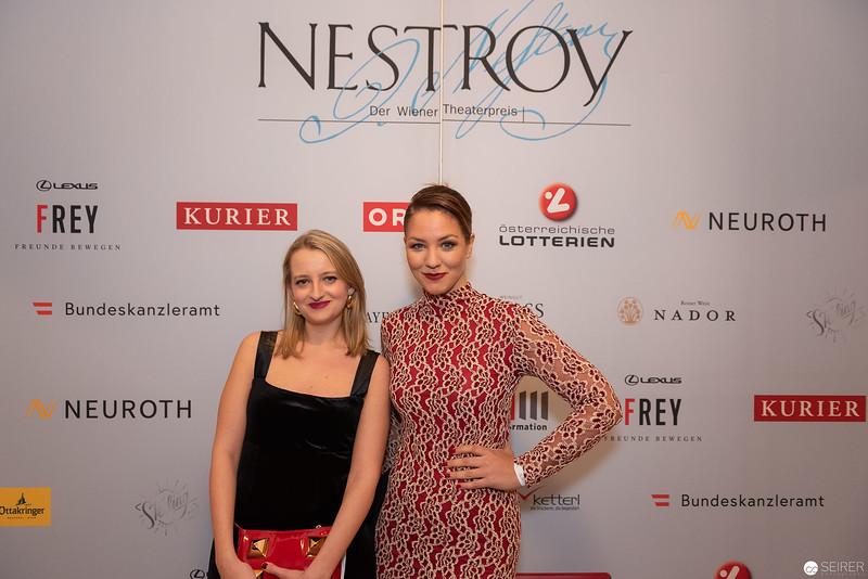 Felicitas Franz - Nestroy Verleihung 2018