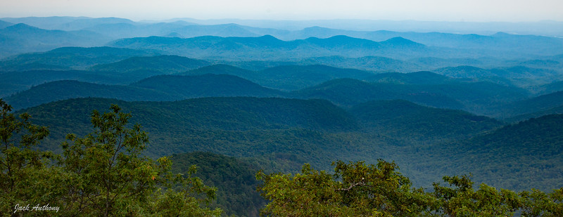 View from Rabun Bald Observation Tower looking south.