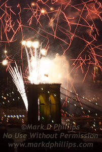 Brooklyn Bridge Anchorage Fireworks