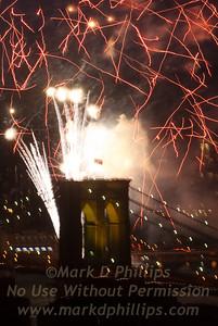 Brooklyn Bridge Anchorage Fireworks