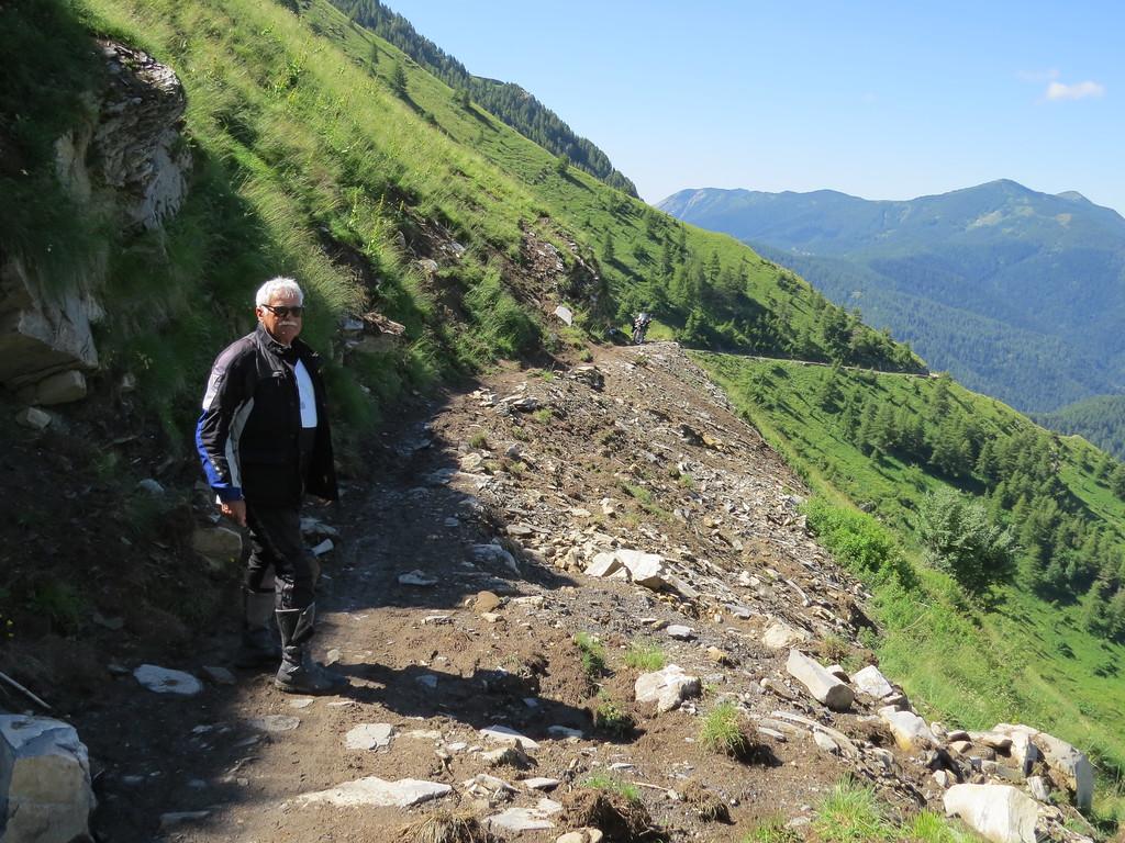 Landslide onder Colle Tanarello en Il Redentore