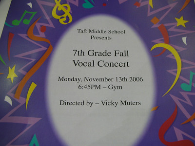 Vocal Concert Nov 2006