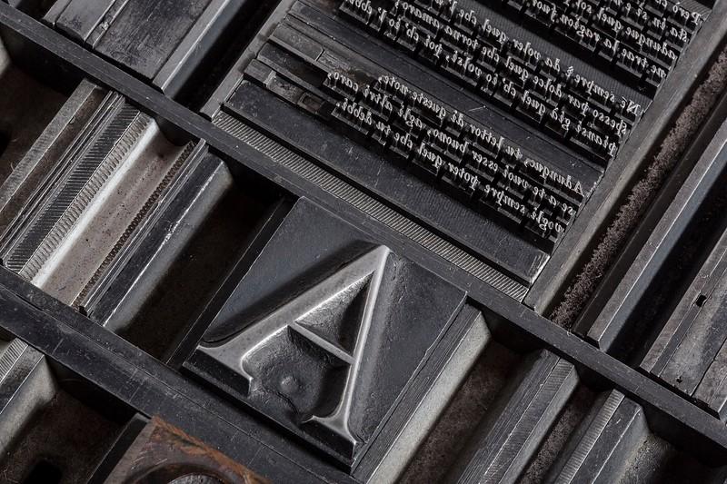 """Pagina del """"Manuale Tipografico IV"""""""