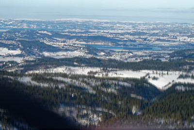 Flying over Trondheim February 2021