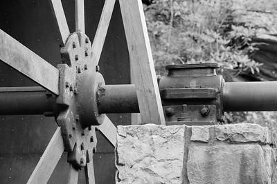 Glade Creek Grist Mill detail, Babcock State Park, WV. © 2020 Kenneth R. Sheide
