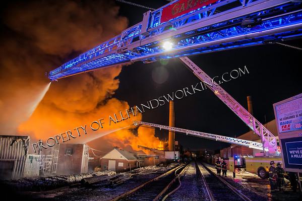 Elmwood Park NJ 10 alarm + Marcal Paper Mills Complex