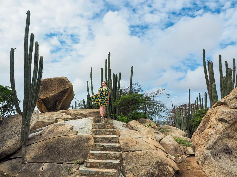At Casibari Rock Formation in Aruba